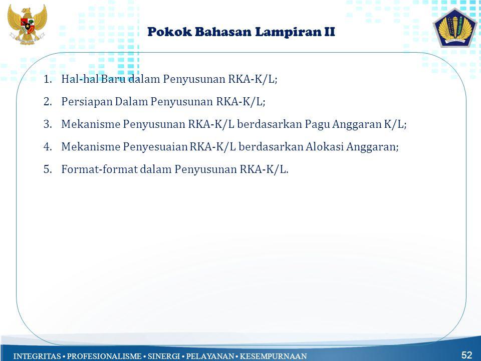 Pokok Bahasan Lampiran II