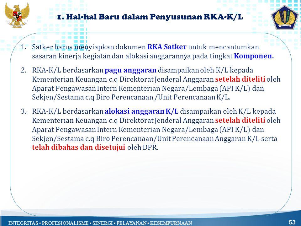 1. Hal-hal Baru dalam Penyusunan RKA-K/L