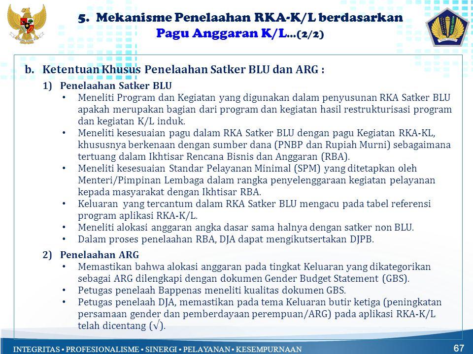 5. Mekanisme Penelaahan RKA-K/L berdasarkan Pagu Anggaran K/L…(2/2)