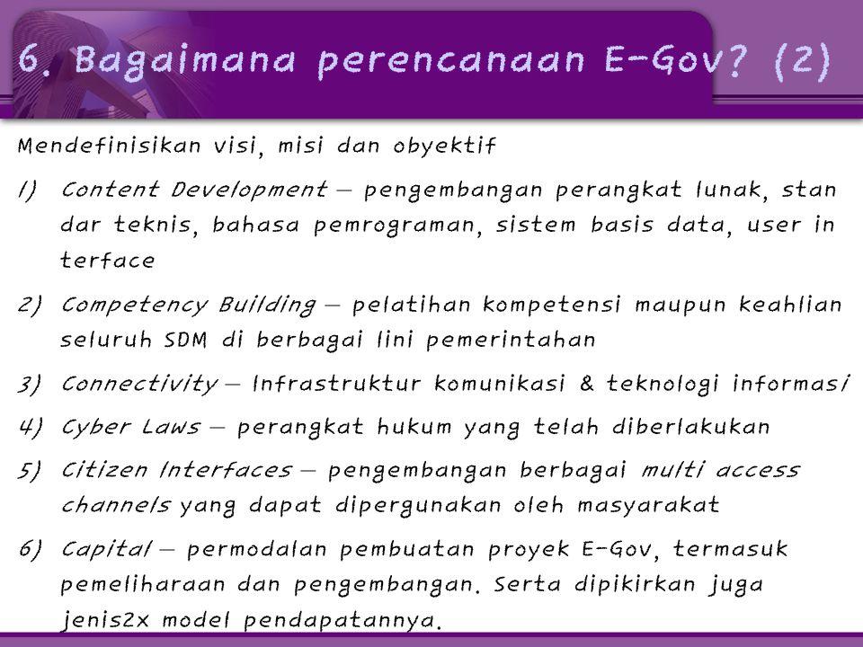6. Bagaimana perencanaan E-Gov (2)