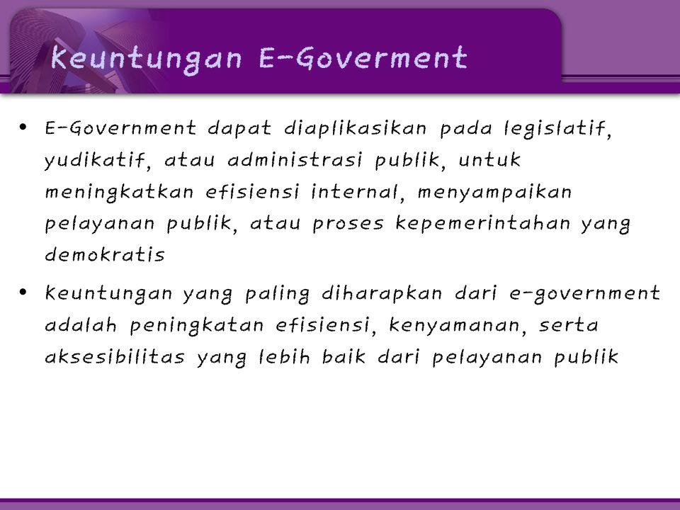 Keuntungan E-Goverment