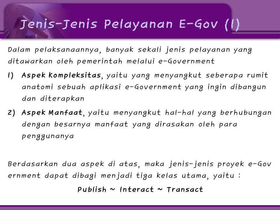 Jenis-Jenis Pelayanan E-Gov (1)