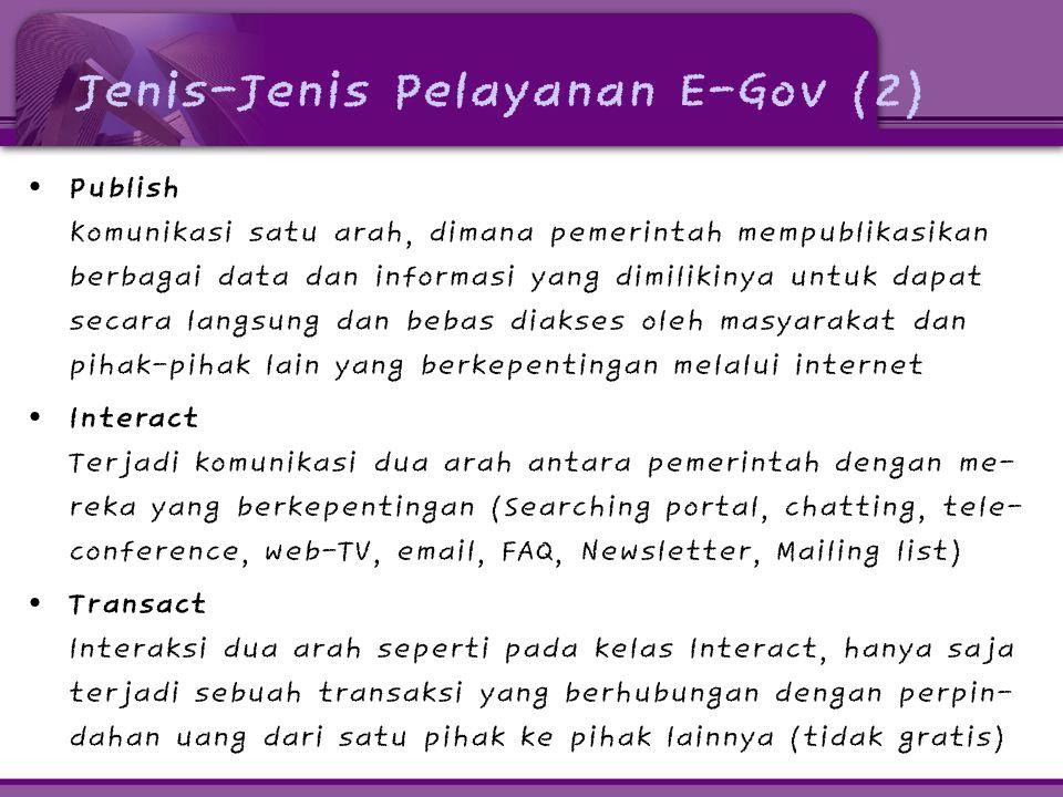 Jenis-Jenis Pelayanan E-Gov (2)