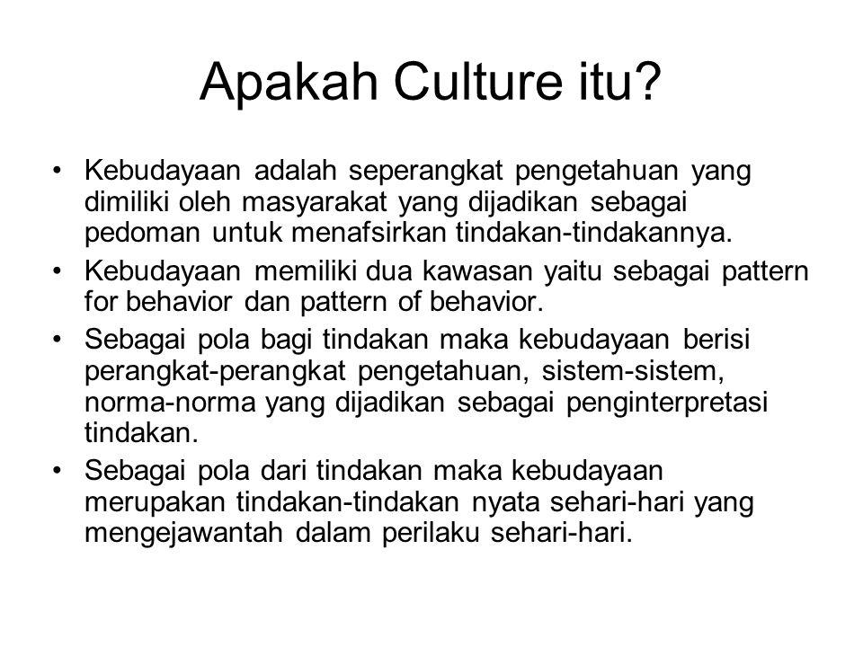 Apakah Culture itu