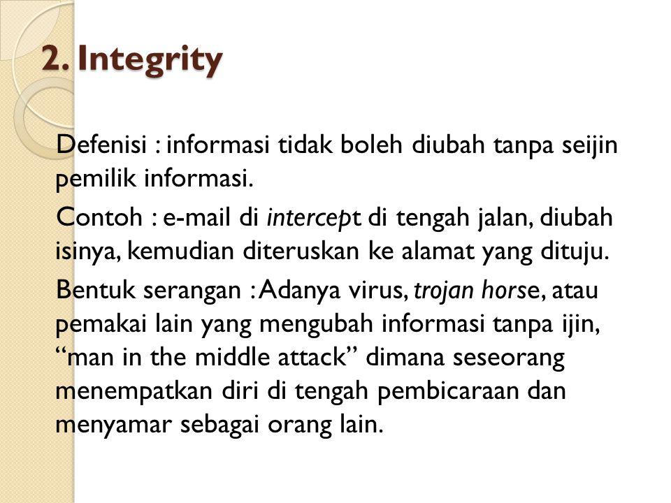 2. Integrity