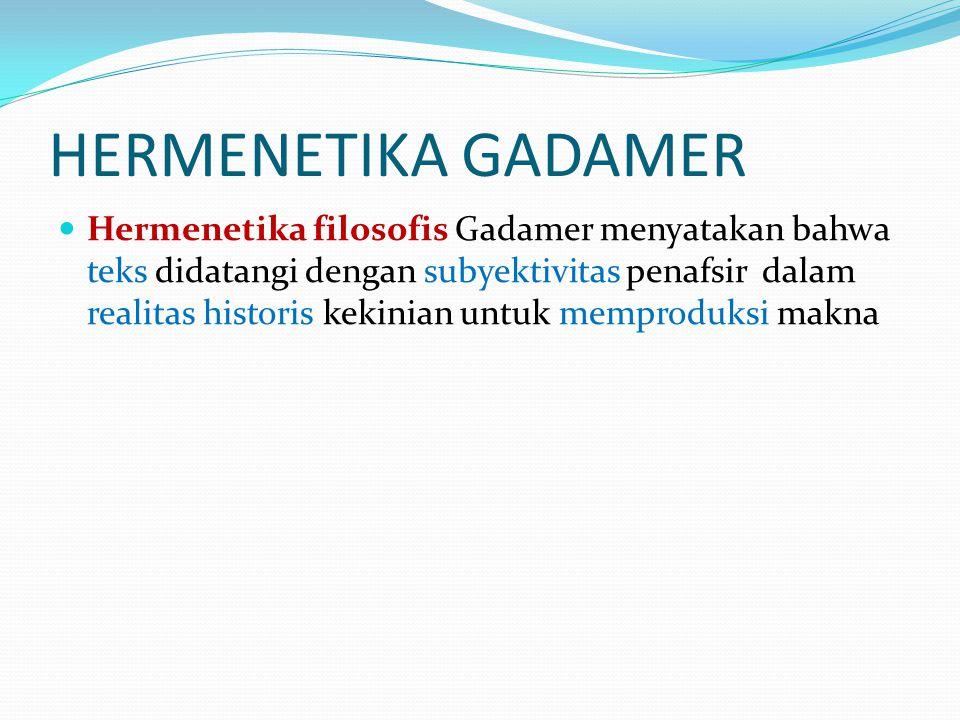 HERMENETIKA GADAMER