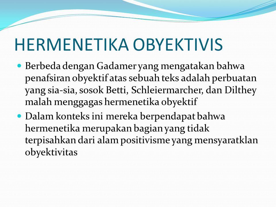 HERMENETIKA OBYEKTIVIS