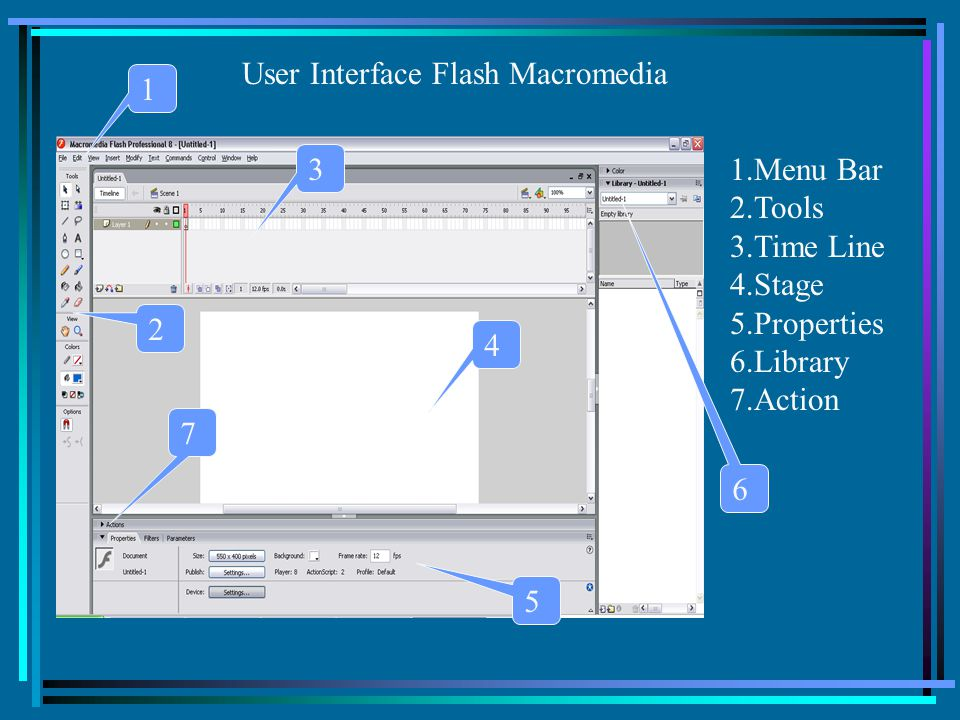 User Interface Flash Macromedia