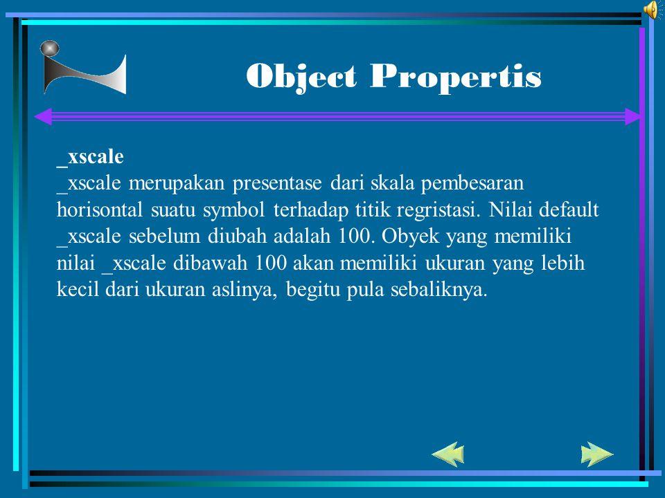 Object Propertis _xscale