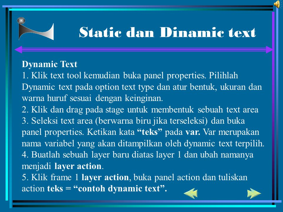 Static dan Dinamic text