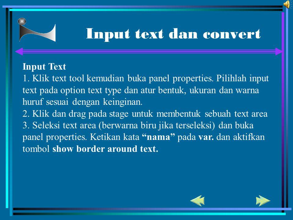 Input text dan convert Input Text