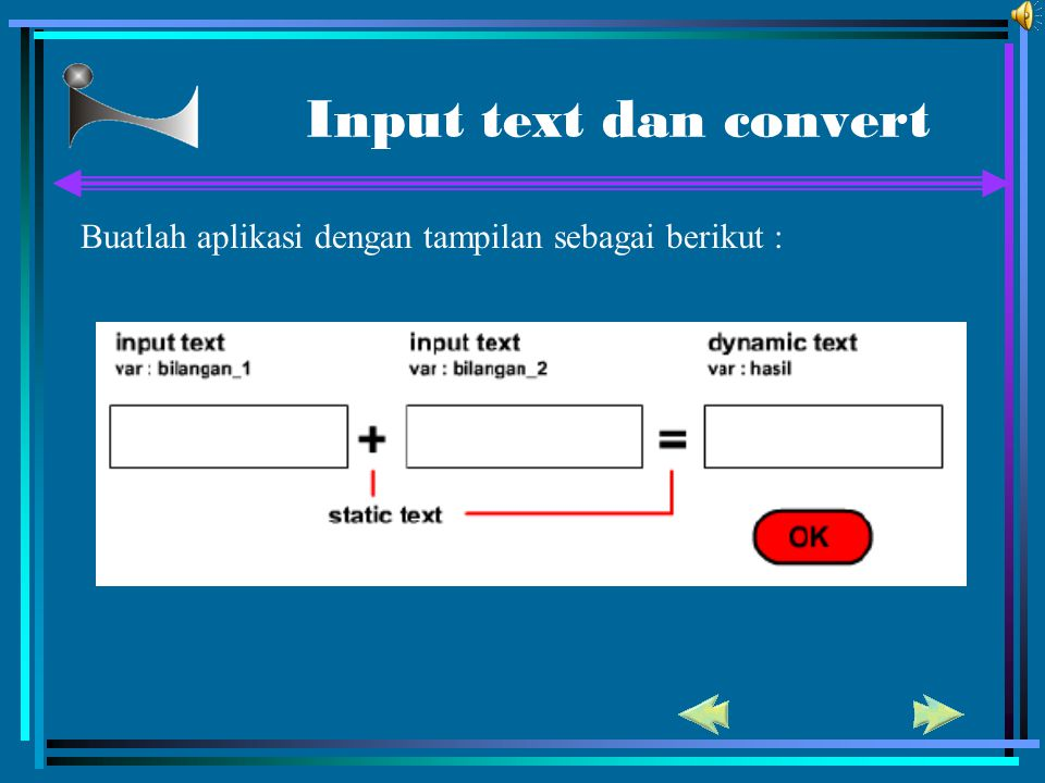 Input text dan convert Buatlah aplikasi dengan tampilan sebagai berikut : 71