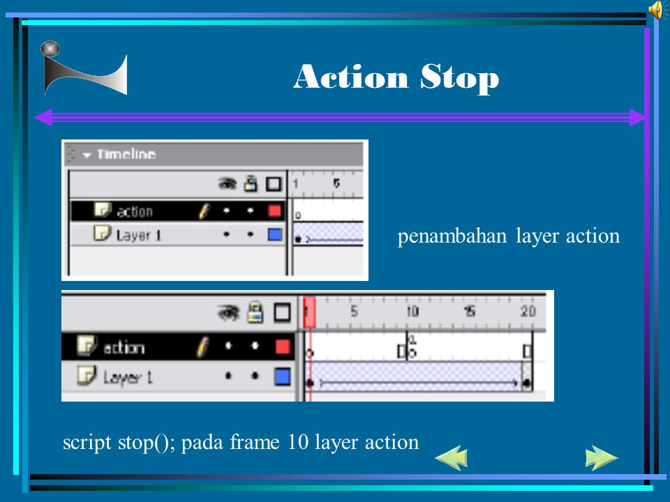 Action Stop penambahan layer action