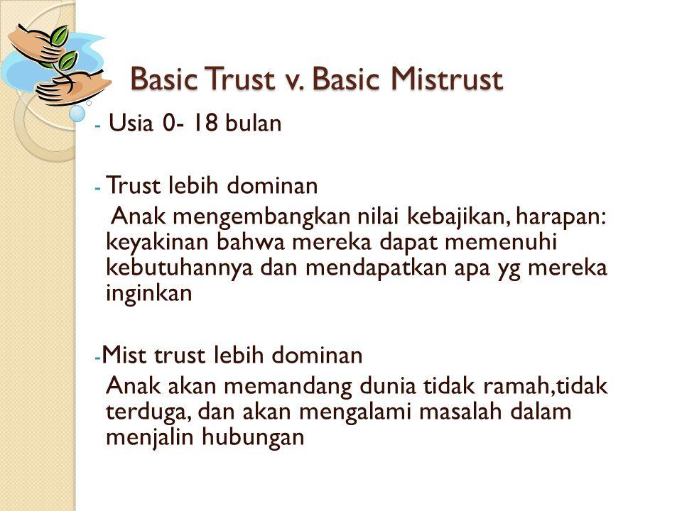 Basic Trust v. Basic Mistrust