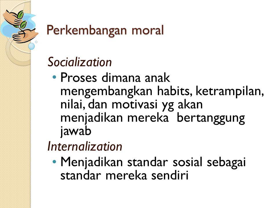 Perkembangan moral Socialization.
