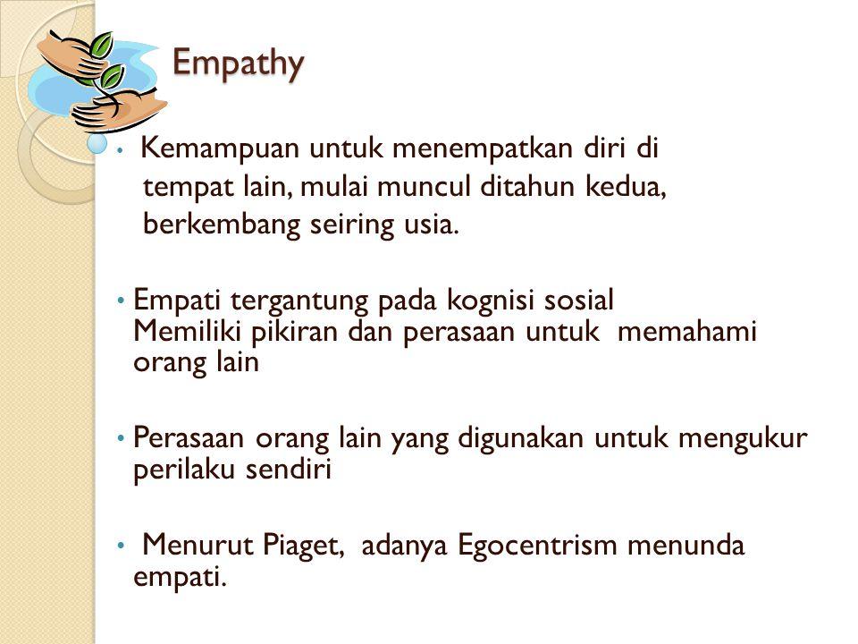 Empathy tempat lain, mulai muncul ditahun kedua,