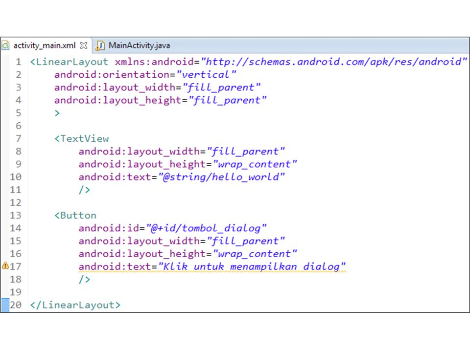 <LinearLayout xmlns:android=   android