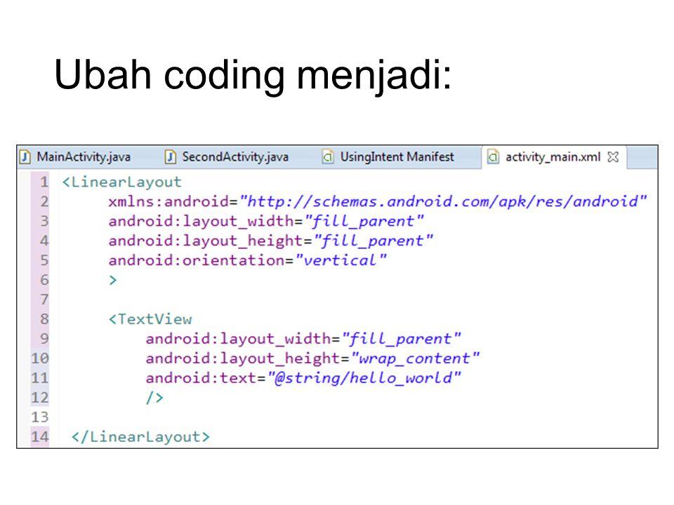 Ubah coding menjadi:
