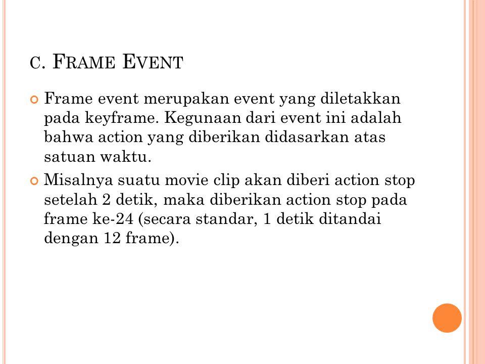 c. Frame Event