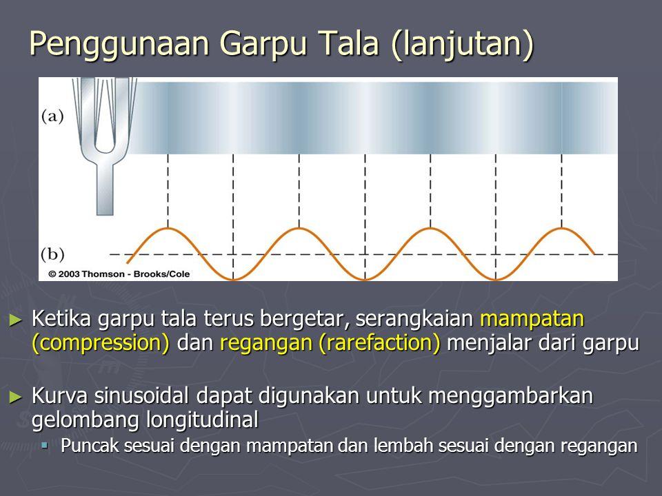 Penggunaan Garpu Tala (lanjutan)
