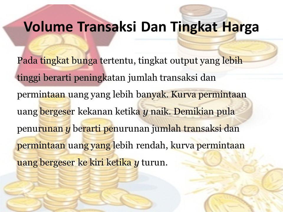 Volume Transaksi Dan Tingkat Harga