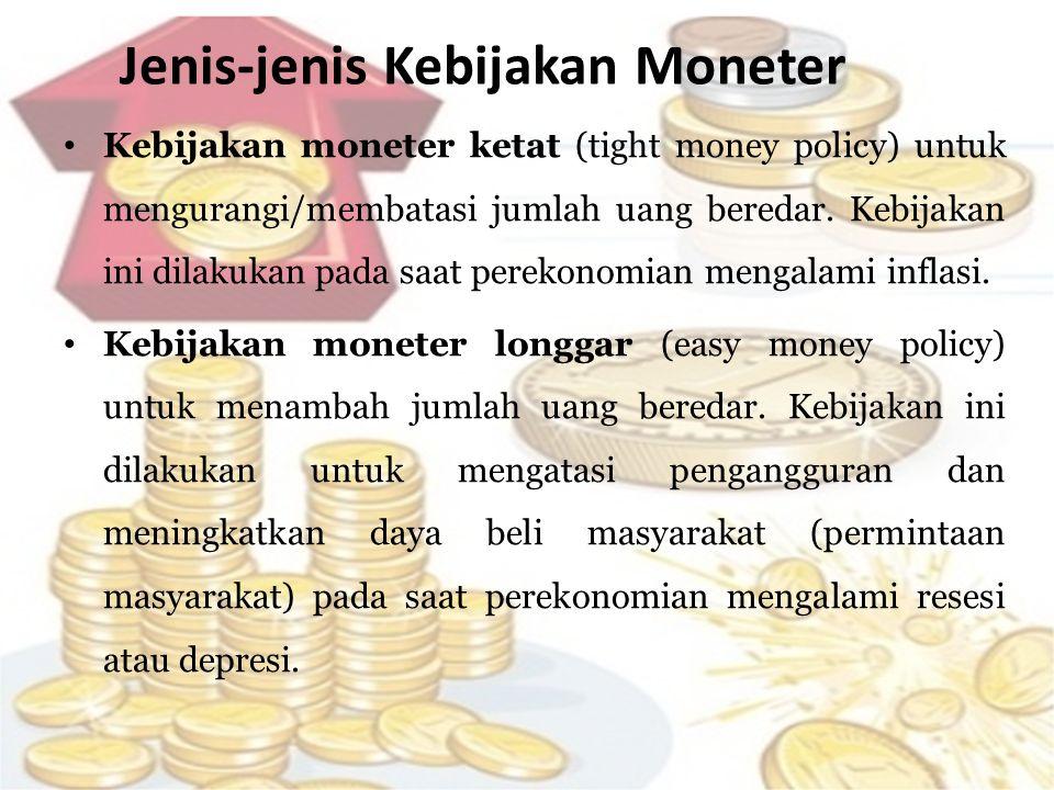 Jenis-jenis Kebijakan Moneter