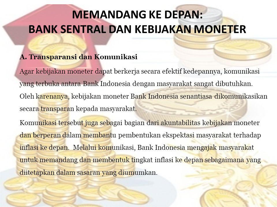 MEMANDANG KE DEPAN: BANK SENTRAL DAN KEBIJAKAN MONETER