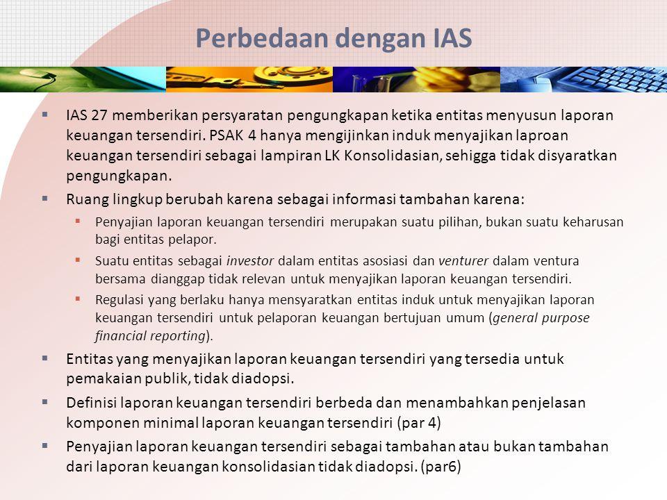 Perbedaan dengan IAS
