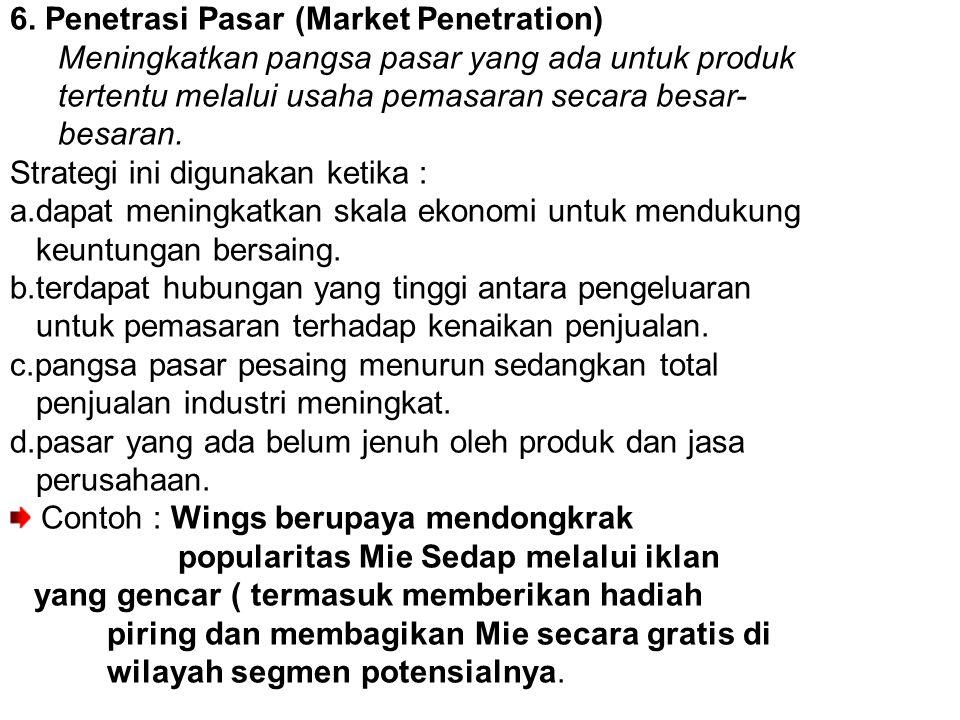 6. Penetrasi Pasar (Market Penetration)
