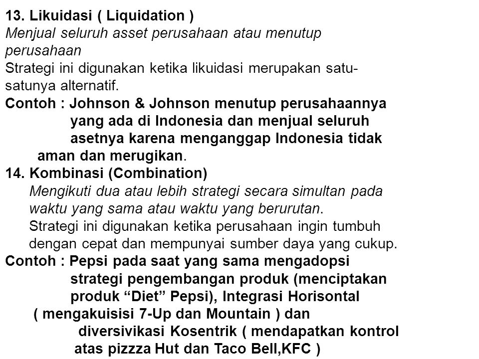 13. Likuidasi ( Liquidation )