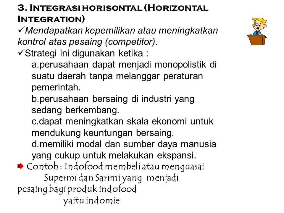 3. Integrasi horisontal (Horizontal Integration)
