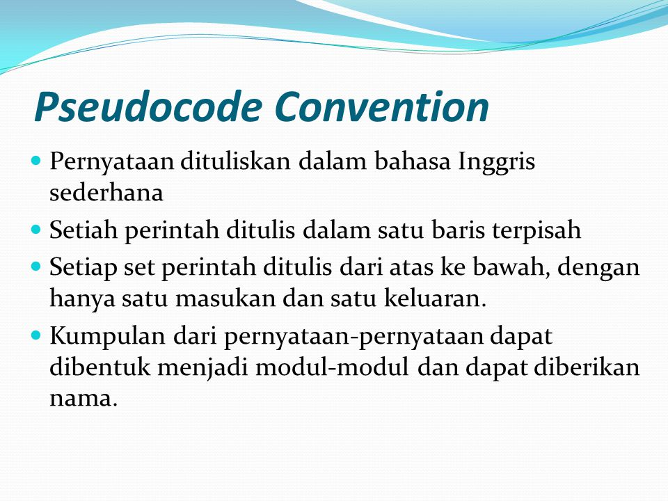 Pseudocode Convention