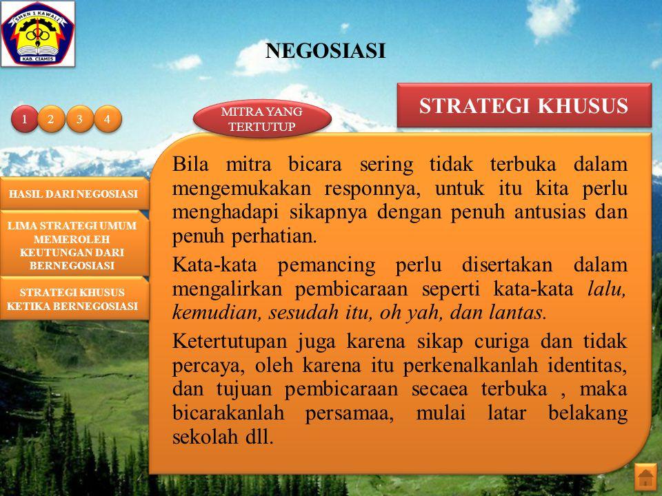 STRATEGI KHUSUS MITRA YANG TERTUTUP. 1. 2. 3. 4.
