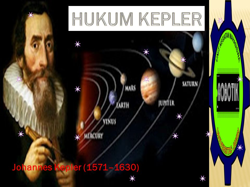 HUKUM KEPLER Johannes Kepler (1571–1630)