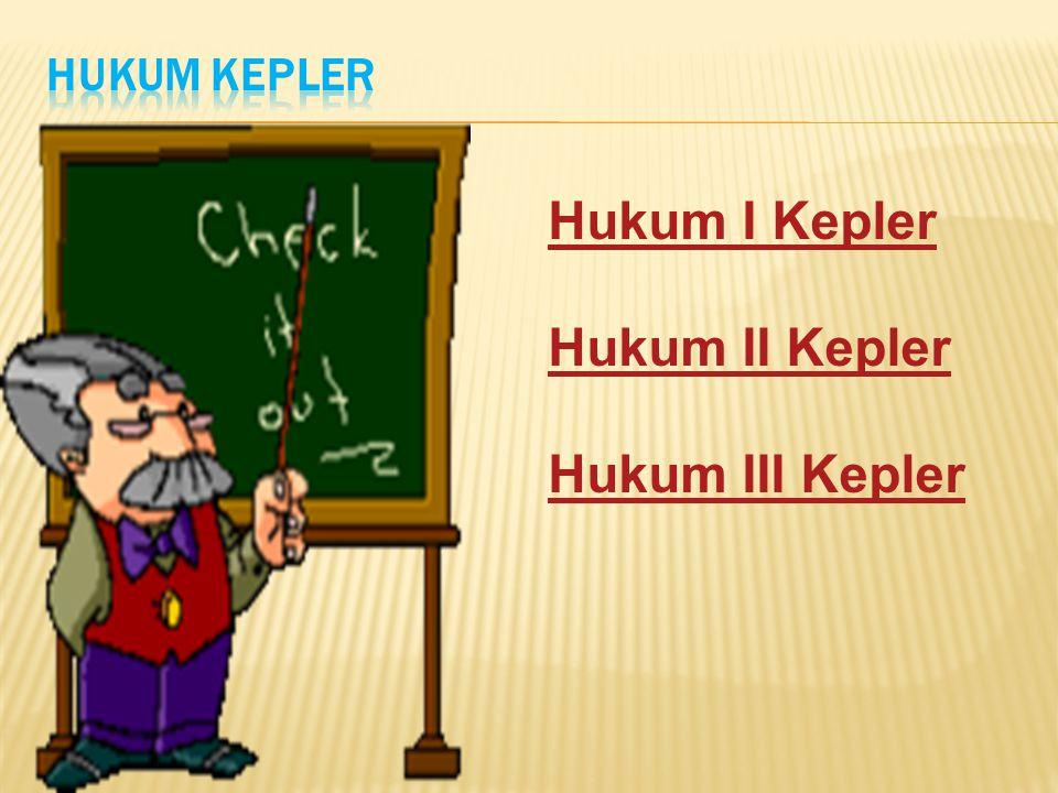 Hukum Kepler Hukum I Kepler Hukum II Kepler Hukum III Kepler