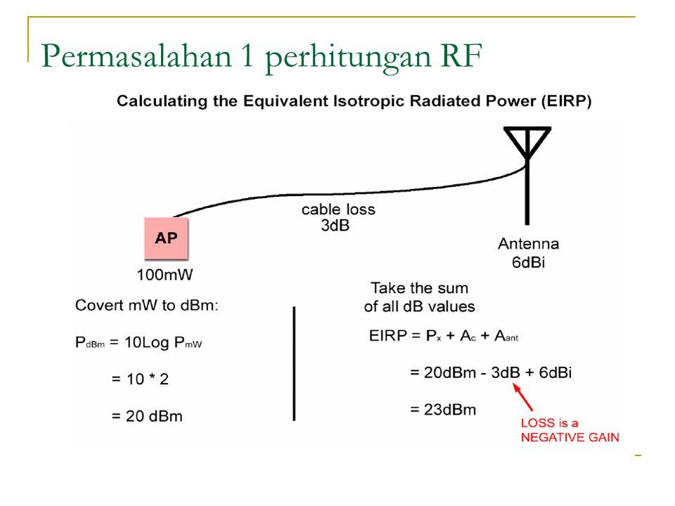 Permasalahan 1 perhitungan RF
