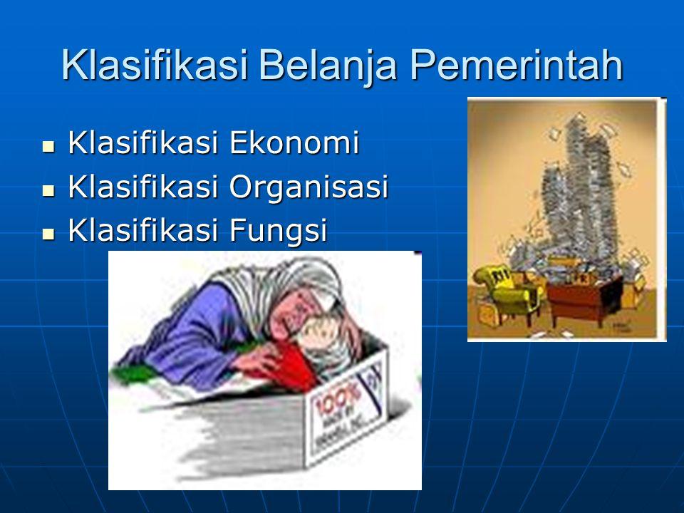 Klasifikasi Belanja Pemerintah