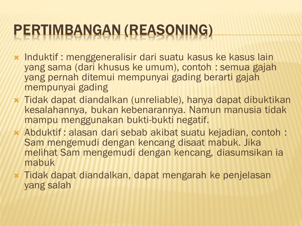 Pertimbangan (reasoning)