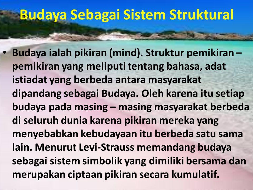 Budaya Sebagai Sistem Struktural