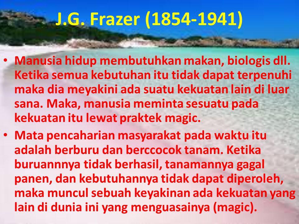 J.G. Frazer (1854-1941)