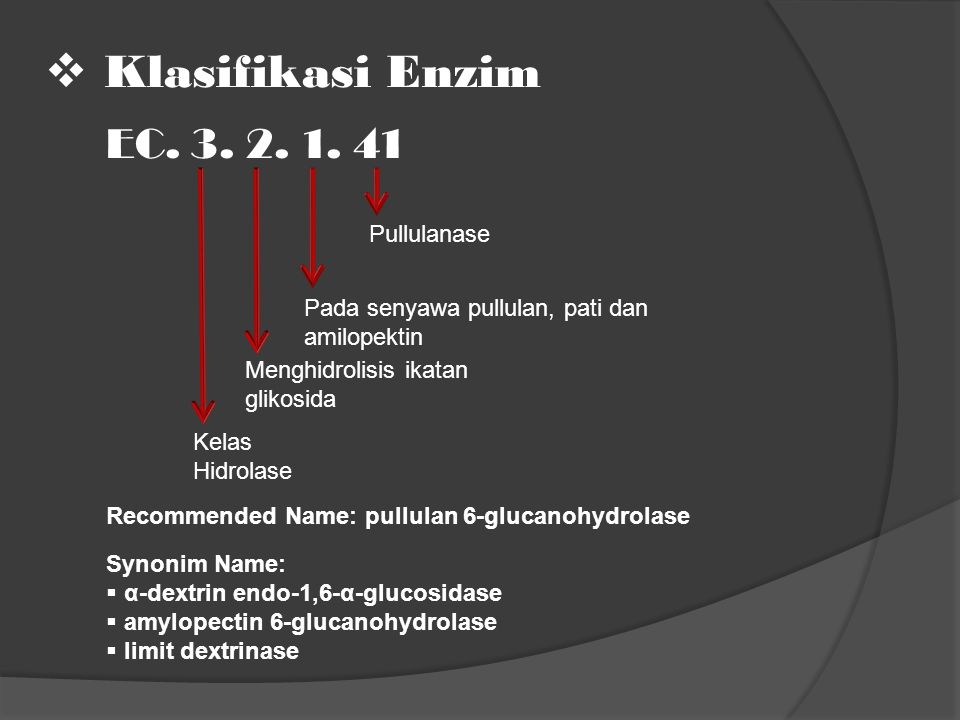 Klasifikasi Enzim EC. 3. 2. 1. 41 Pullulanase