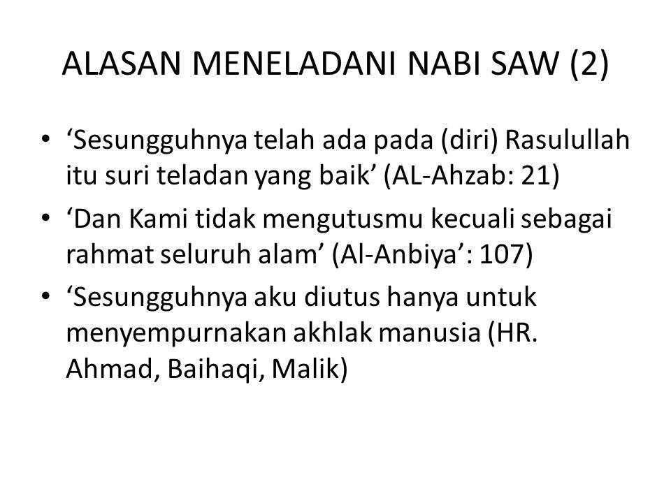 ALASAN MENELADANI NABI SAW (2)