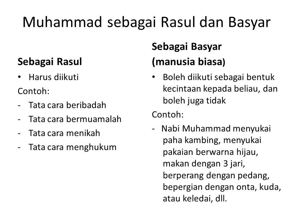 Muhammad sebagai Rasul dan Basyar