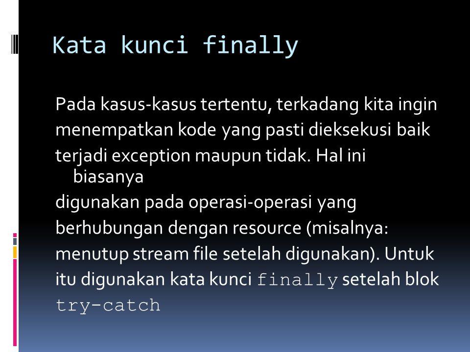 Kata kunci finally