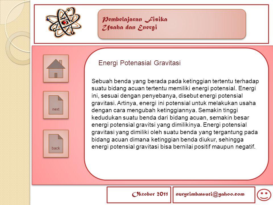 Energi Potenasial Gravitasi