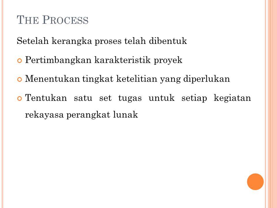 The Process Setelah kerangka proses telah dibentuk