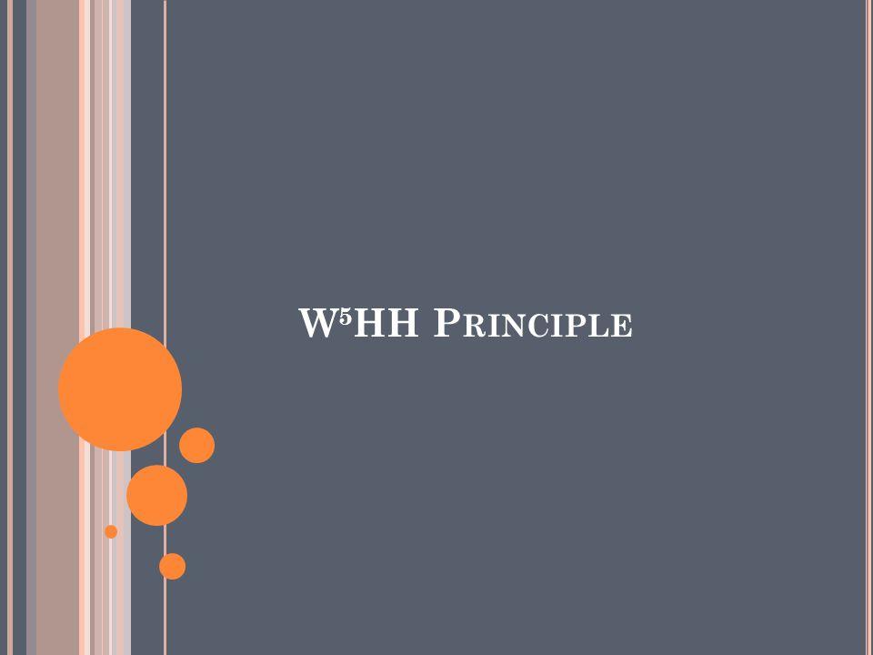 W5HH Principle
