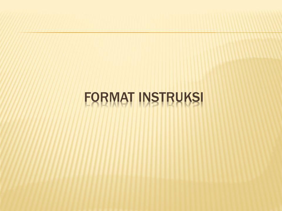 FORMAT INSTRUKSI
