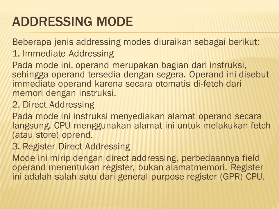 Addressing Mode