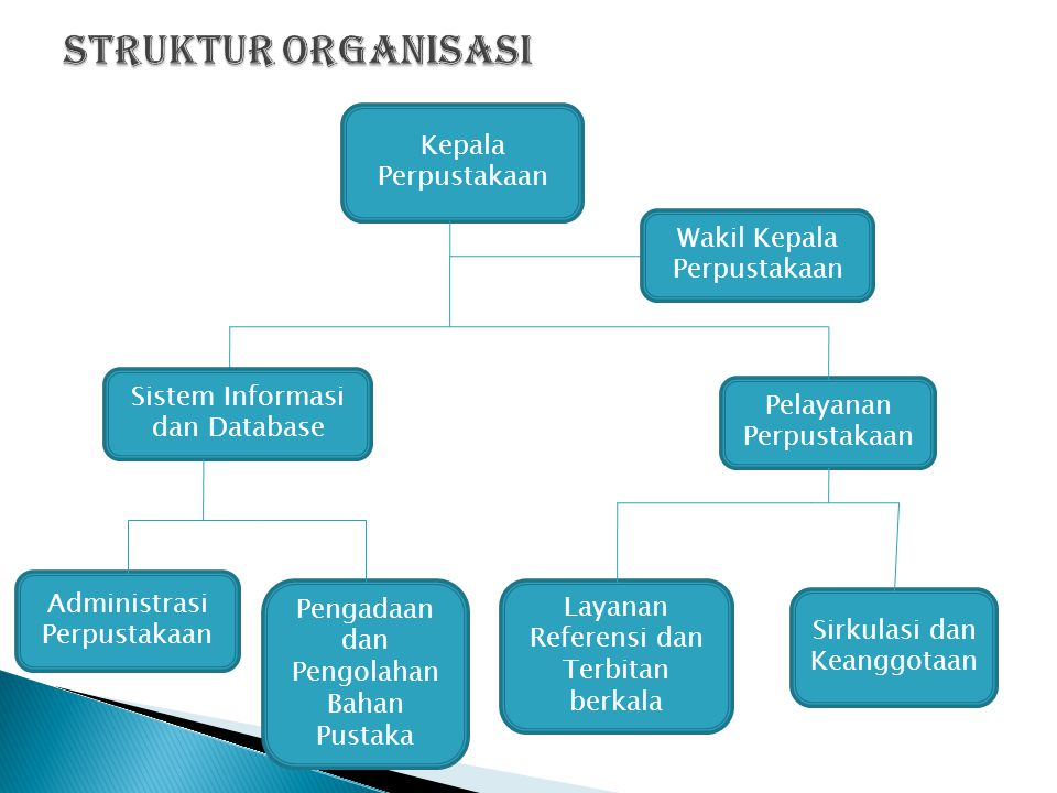 Struktur Organisasi Kepala Perpustakaan Wakil Kepala Perpustakaan